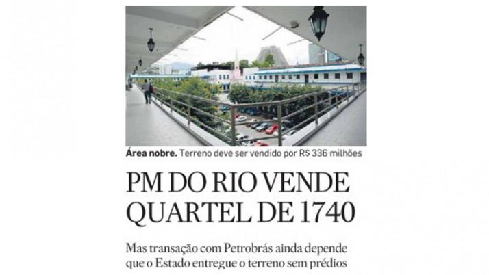 Governo vende QG da Polícia Militar para a Petrobras