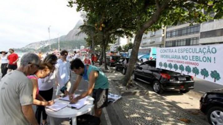 Moradores do Leblon participam de abaixo-assinado pela preservação de áreas verdes