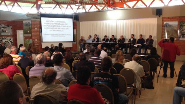 Audiência pública discute processo de despoluição das lagoas de Jacarepaguá e Barra da Tijuca