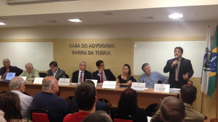 Em debate na OAB Barra da Tijuca, Caiado fala da luta para levar o metrô até o Terminal Alvorada