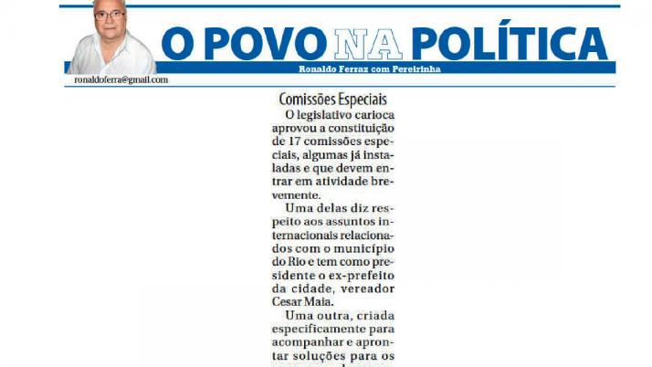 O Povo do Rio: Comissão Especial de Saneamento na Zona Oeste é presidida por Caiado