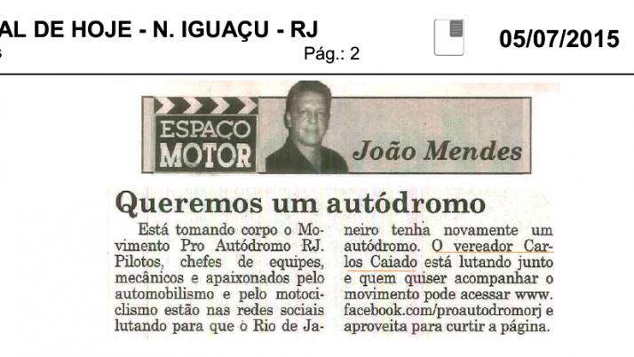Jornal de Hoje: Queremos um autódromo