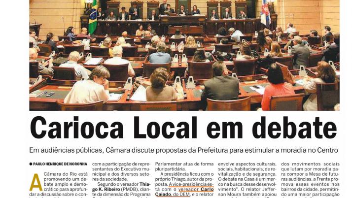 Meia Hora: Carioca Local em debate