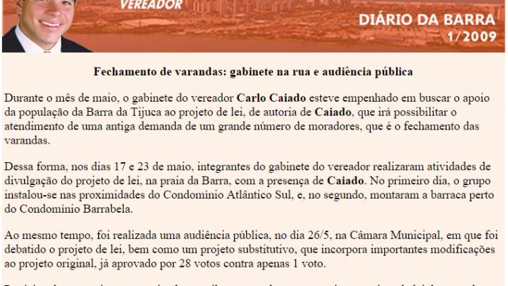 Diário da Barra 05/2009