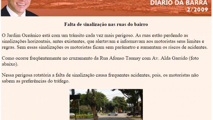 Diário da Barra 06/2009