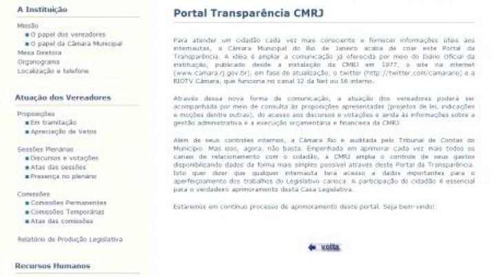 Câmara lança Portal da Transparência