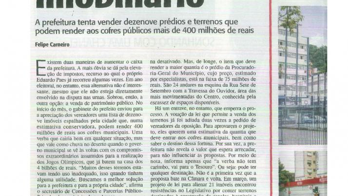 Veja Rio: Caiado questiona destino do Dinheiro e dos Imóveis que a Prefeitura pretende vender