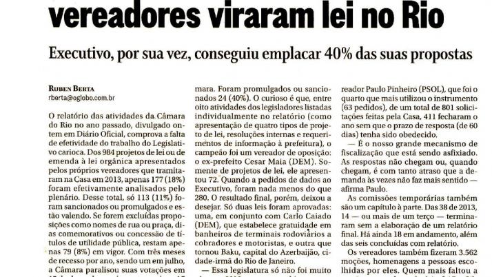 O Globo: Lei de Caiado que estabelece gratuidade a cobradores e motoristas em banheiros de terminais rodoviários é aprovada