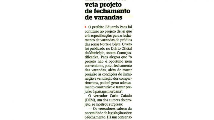 Extra: Caiado defende Projeto de Lei que prevê fechamento de Varandas nas Zonas Oeste e Norte