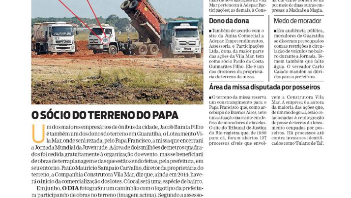 Informe O Dia: Caiado envia à Prefeitura, dúvidas de moradores de Guaratiba sobre circulação de veículos durante a Jornada
