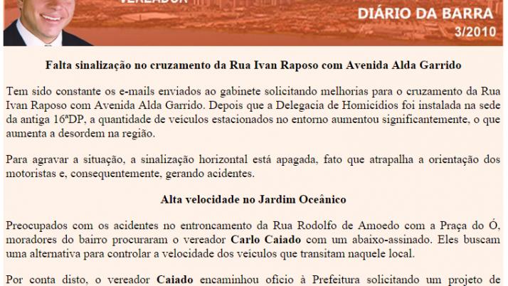Diário da Barra 03/2010