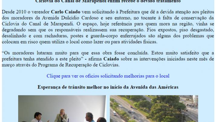 Ver. Carlo Caiado – Diário da Barra 03/2012