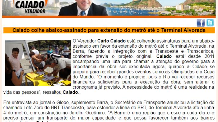 Ver. Carlo Caiado – Diário da Barra 03/2013