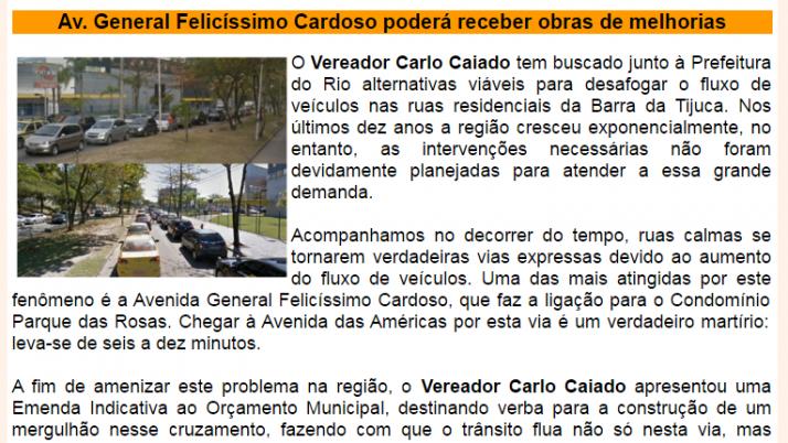 Ver. Carlo Caiado – Diário da Barra 08/2013