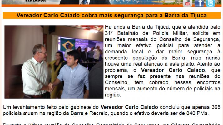 Ver. Carlo Caiado – Diário da Barra 10/2013