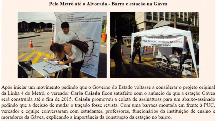 Ver. Carlo Caiado – 05/2011