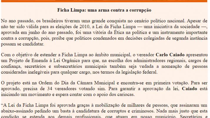 Ver. Carlo Caiado – 10/2011