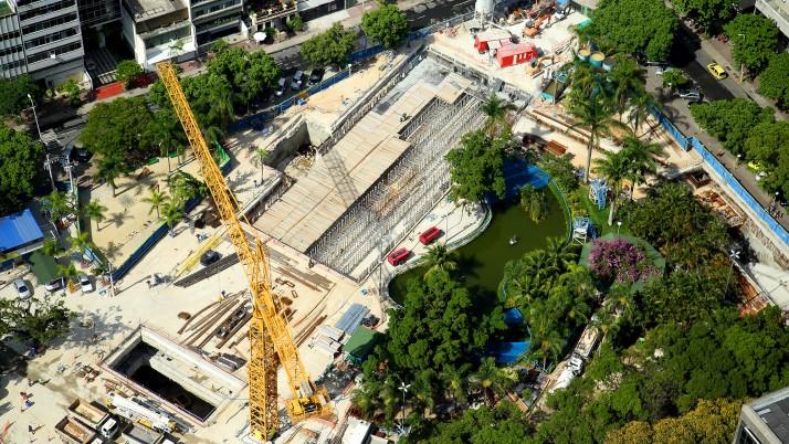 Caiado cobra projetos de reurbanização dos locais onde houve intervenções para a construção da Linha 4 do metrô