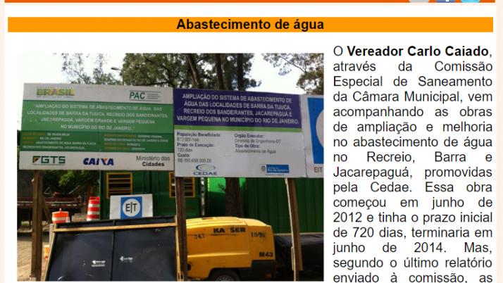 Ver. Carlo Caiado – Diário do Recreio 01/2015