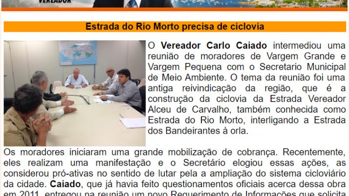 Ver. Carlo Caiado – Diário do Recreio 04/2015