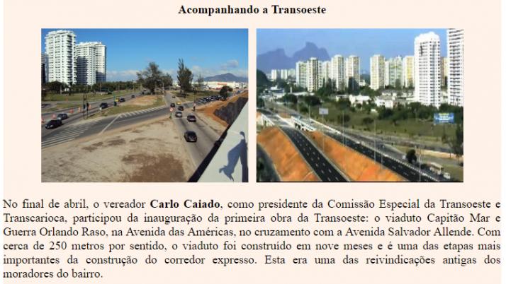 Ver. Carlo Caiado – Diário do Recreio 05/2011