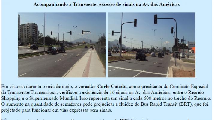 Ver. Carlo Caiado – Diário do Recreio 05/2012