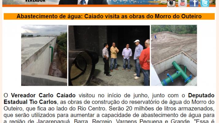 Ver. Carlo Caiado – Diário do Recreio 05/2015