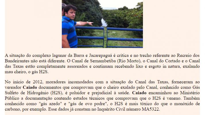 Ver. Carlo Caiado – Diário do Recreio 06/2012