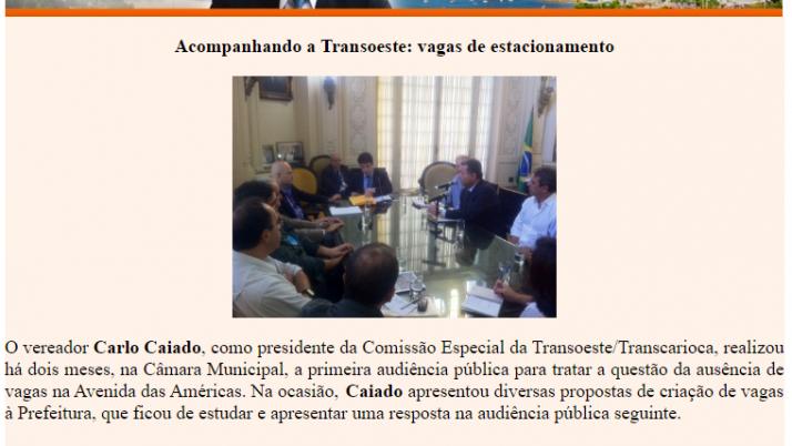 Ver. Carlo Caiado – Diário do Recreio 07/2011