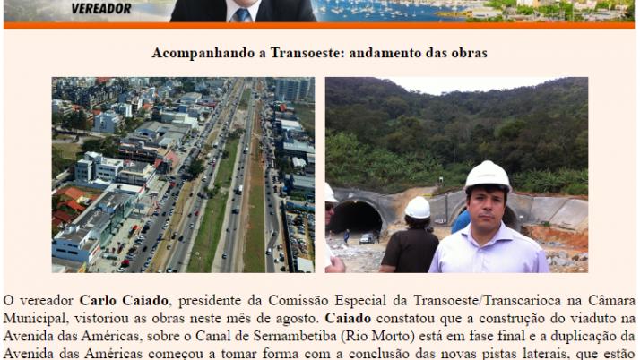 Ver. Carlo Caiado – Diário do Recreio 08/2011