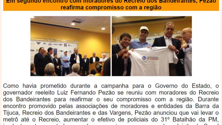 Ver. Carlo Caiado – Diário do Recreio 11/2014