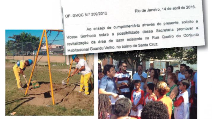 Praça Guandú Velho recebe obras de revitalização