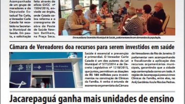 Informativo semestral de Prestação de Contas Jacarepaguá
