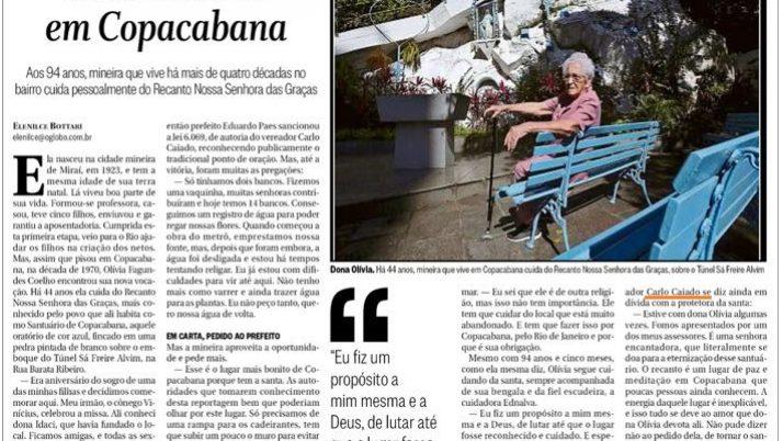 Lei de autoria de Caiado é destaque no Jornal O Globo de domingo