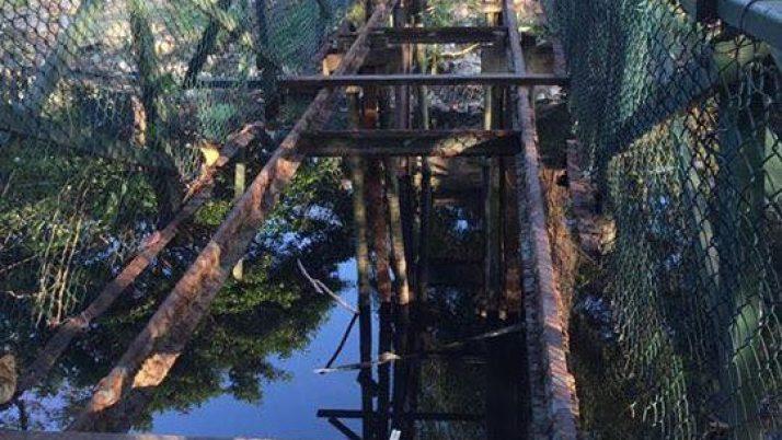 Ponte sobre o Canal das Taxas em construção