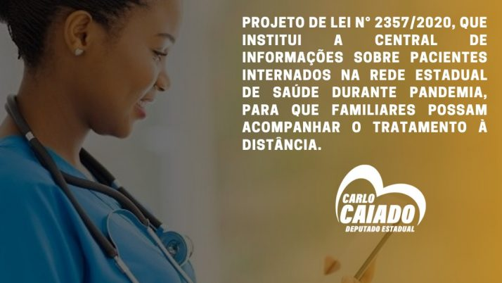 Projeto aprovado institui central de informações para familiares de pacientes internados com Covid-19